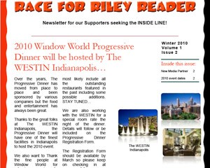 Get all the latest news and information with the Race for Riley Reader newsletter...