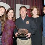 2016 Champion for Children recipient John Andretti with his family. (Pictured left to right, daughter Amelia, wife Nancy, John, daughter Olivia, and son Jarett)